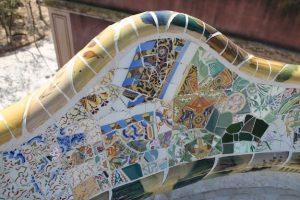 Geländer Antoni Gaudi Park Güell