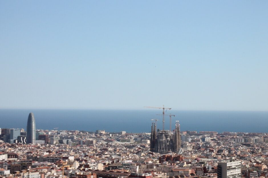 Barcelona Sehenswürdigkeiten von oben
