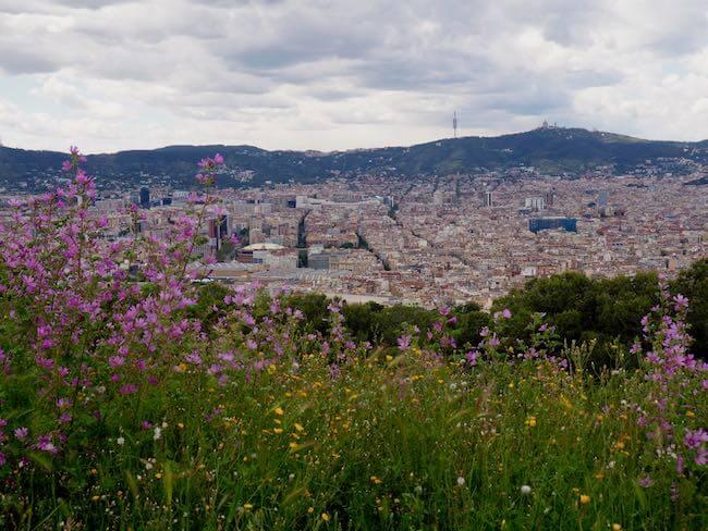 Barcelona Aussicht Castell Montjuic