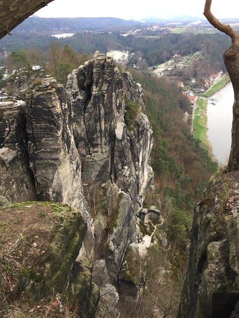 Bastei Blick Richtung Rathen