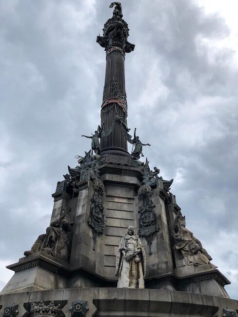 Kolumbusdenkmal im Hafen von Barcelona