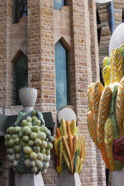 Naturhinweise an der Sagrada Familia