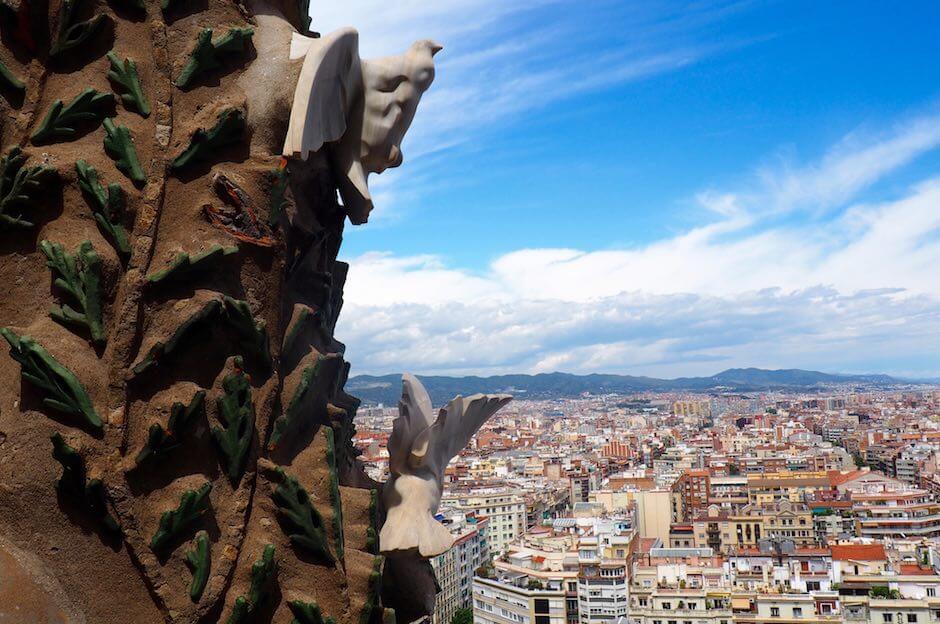 Sagrada Familia in Barcelona Ausblick