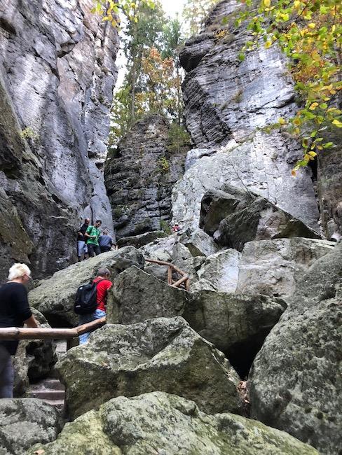 Schwedenlöcher Sächsische Schweiz Aufstieg