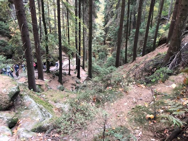 Schwedenlöcher Sächsische Schweiz Treppen