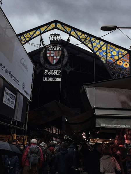 La Boqueria als Ziel für Barcelona bei Regen