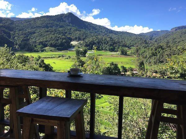 Kaffee Doi Inthanon Reisfeld Chiang Mai