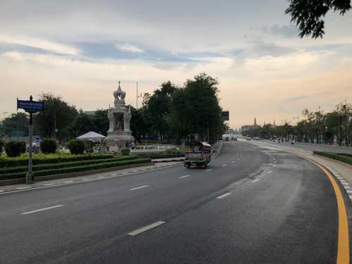 TukTuk Strasse Bangkok Außenbezirk