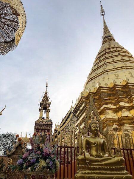 Doi Suthep Chedi Tempel Chiang Mai