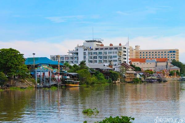 Fluss Pa Sak in Ayutthaya