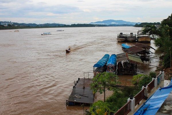 Laos Mekong Fluss am Golden Triangle
