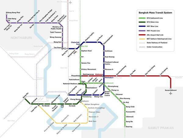 Nahverkehr Karte Map Bangkok