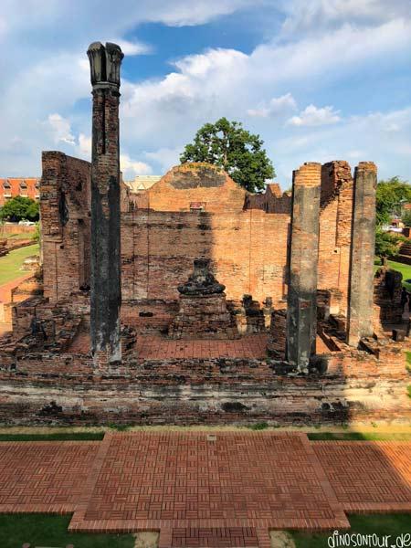 Ruinen Geschichtspark Ayutthaya