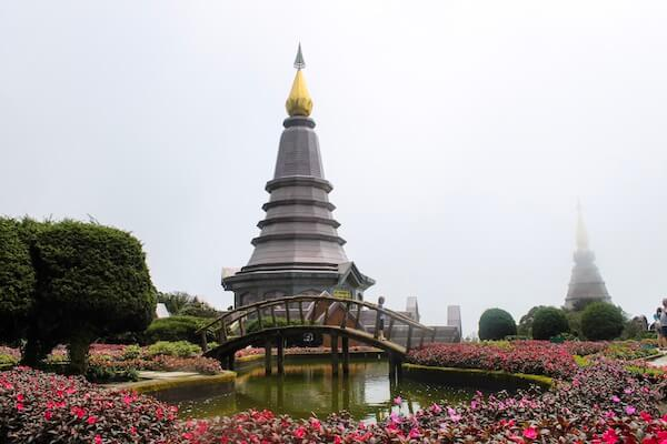 Zwillingspagoden Twin Pagodas im Doi Inthanon National Park