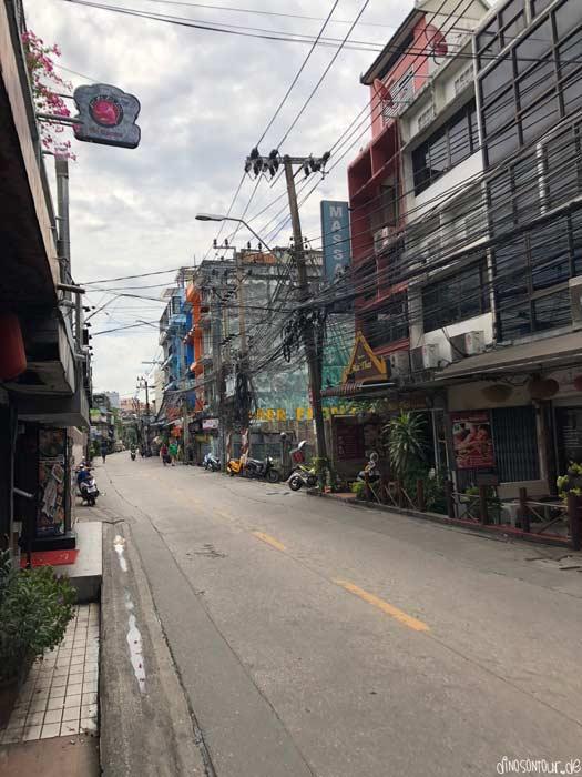 Straße in Bangkok abgelegen