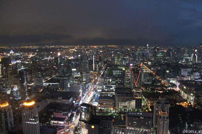 Bangkok Aussicht bei nacht