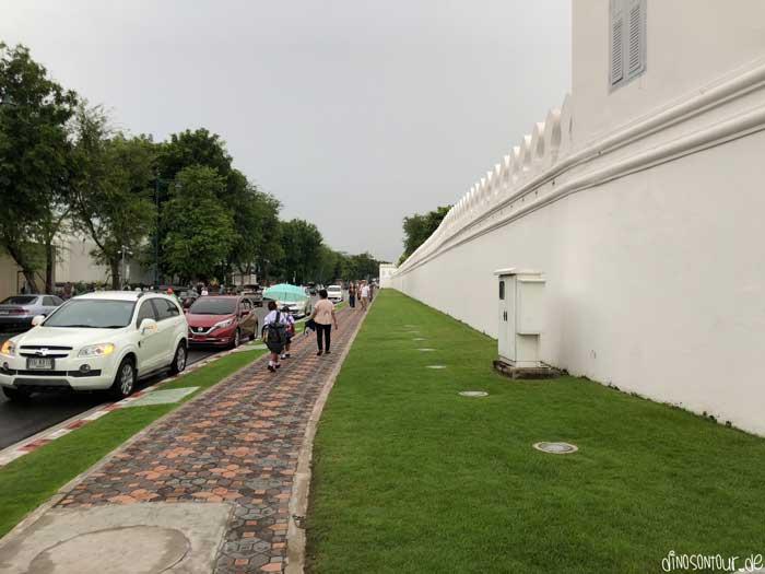 Mauer Großer Palast Wat Phra Kaeo