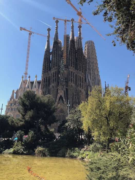 Sagrada-Familia Geburtsfassade 2019