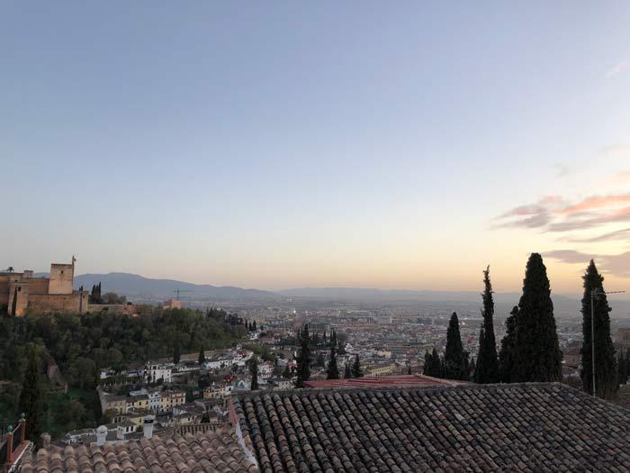 Alcazaba Alhambra Ausblick Granada