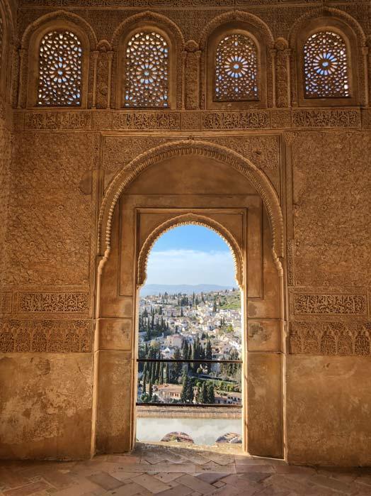 Blick von Alhambra auf Albaicín