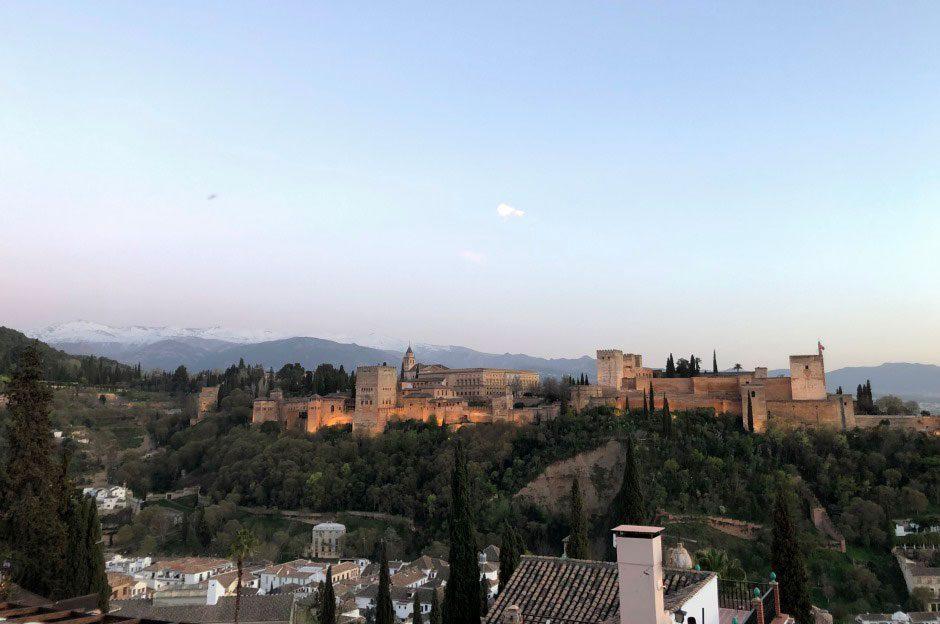 Alhambra Sierra Nevada Ausblick Granada