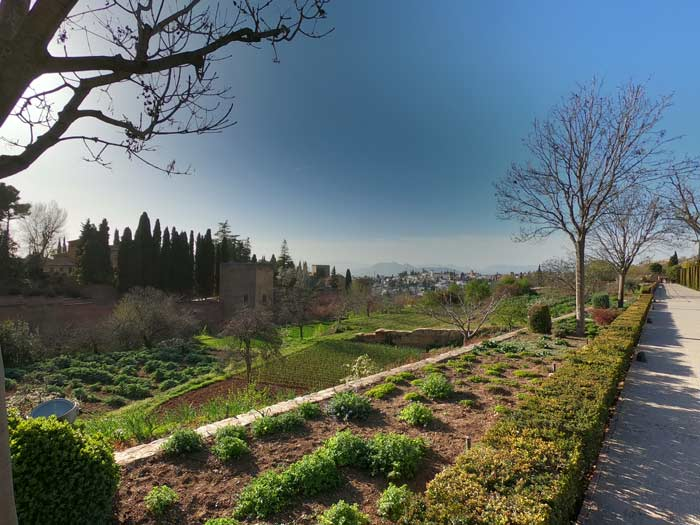 Ausblick Generalife Alhambra
