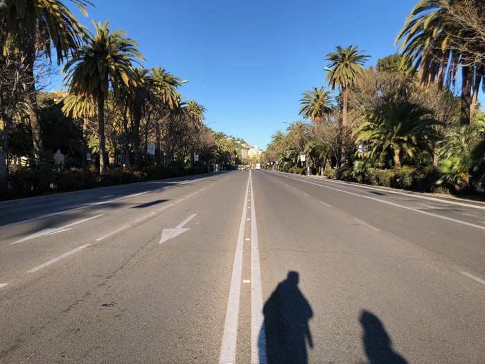 Zu Fuß unterwegs Malaga