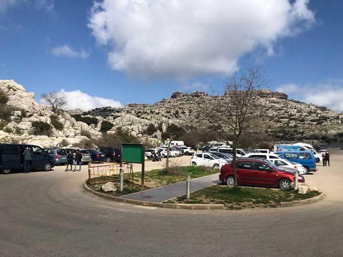 Parkplatz Torcal de Antequera