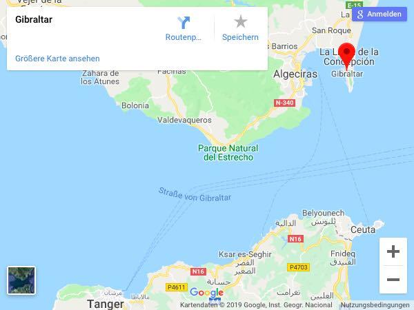 Map Gibraltar