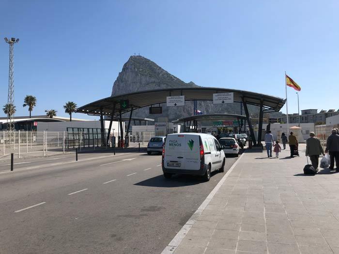 Grenzübergang La Linea nach Gibraltar