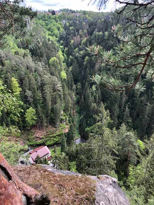 Blick vom Hockstein ins Tal