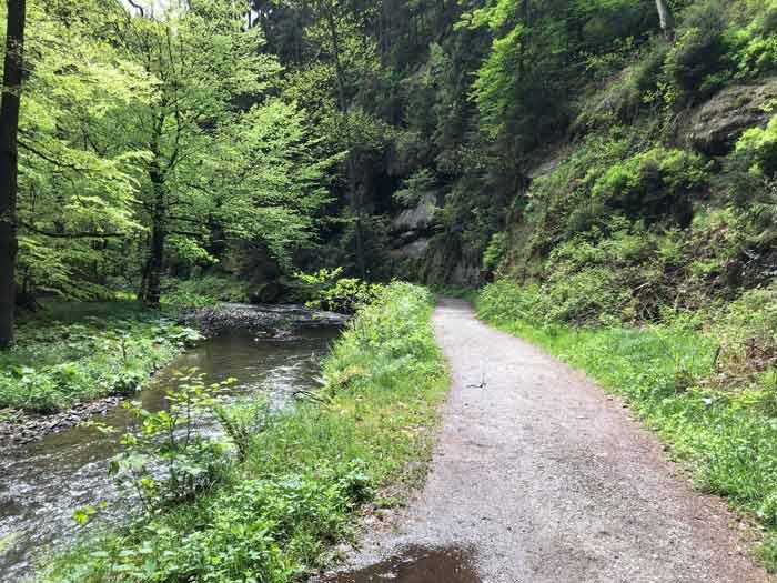 Wanderweg Polenztal