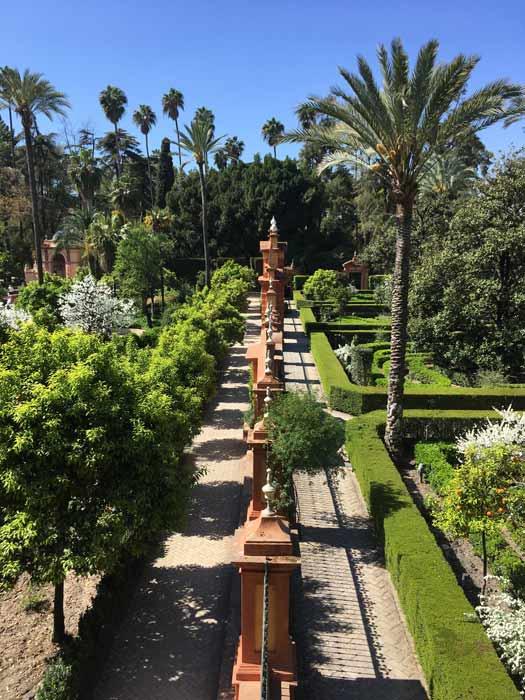 Garten Park Real Alcazar Sevilla