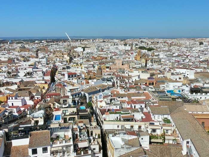 Santa Cruz Altstadt Sevilla von oben