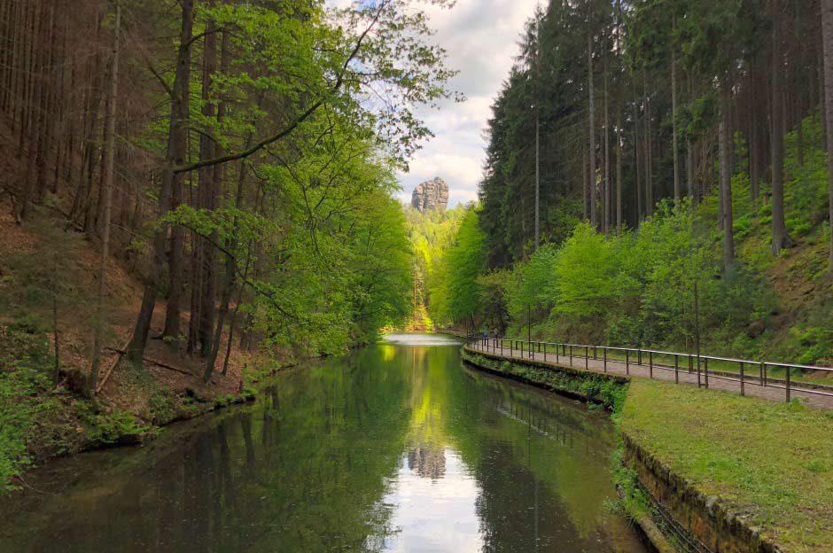 Amselsee Sächsische Schweiz Blick Talwächter