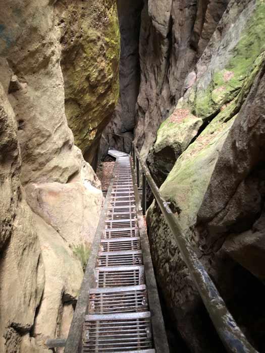 Wolfsschlucht Treppe Abstieg