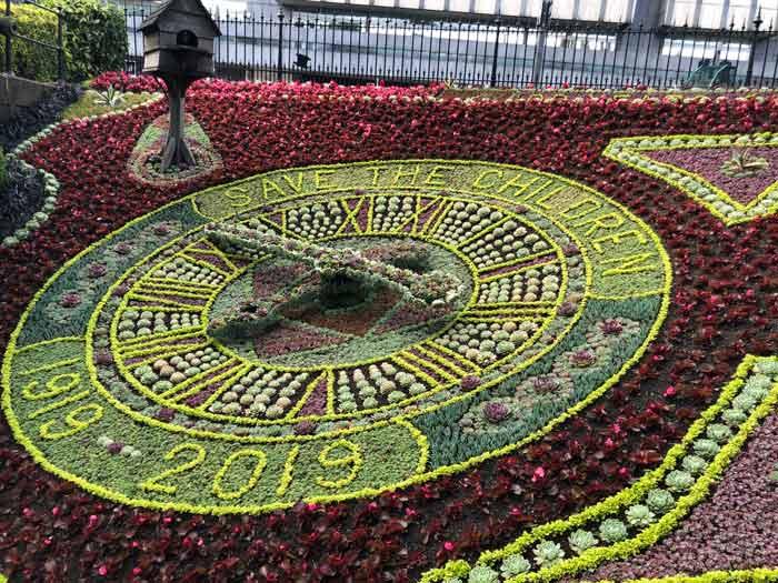 Floral Clock in den Princes Street Gardens