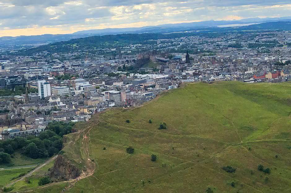 Arthur's Seat Ausblick Edinburgh