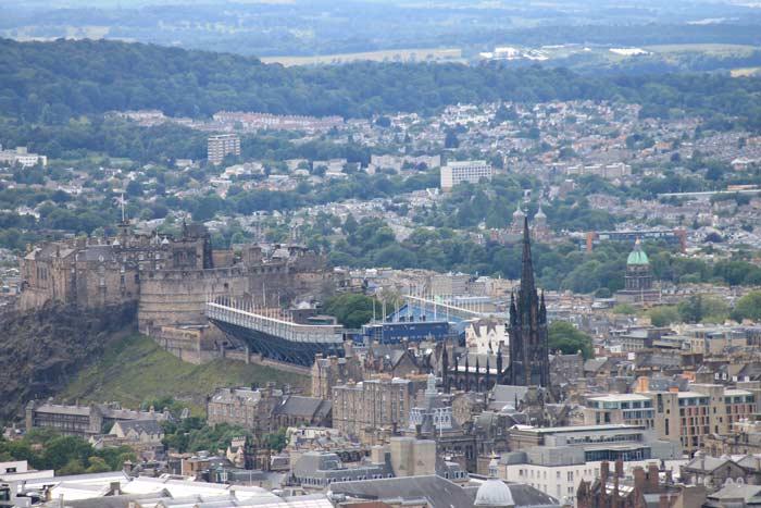 Ausblick auf Edinburgh Castle