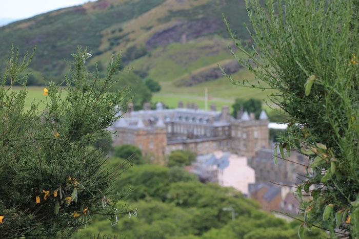 Holyrood Palace verschwommen