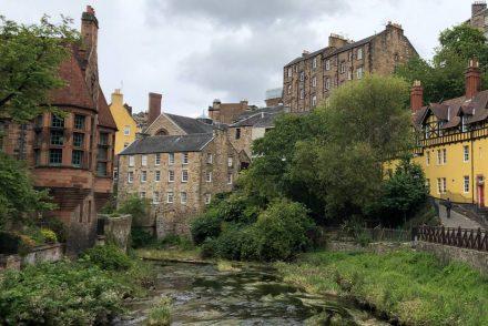 Dean Village Edinburgh Spaziergang