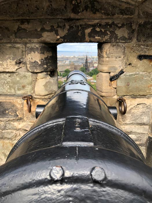Kanone Edinburgh Castle
