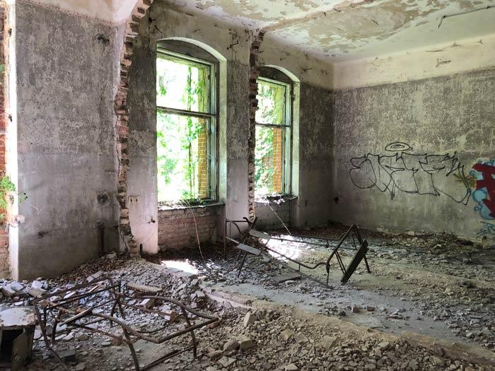 Überreste im Alpenhaus