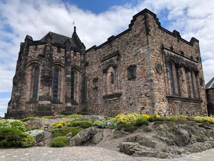 Alte Gebäude in Edinburgh Castle