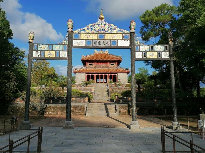 Gebäude beim Grabmal des Minh Mang Grabmal