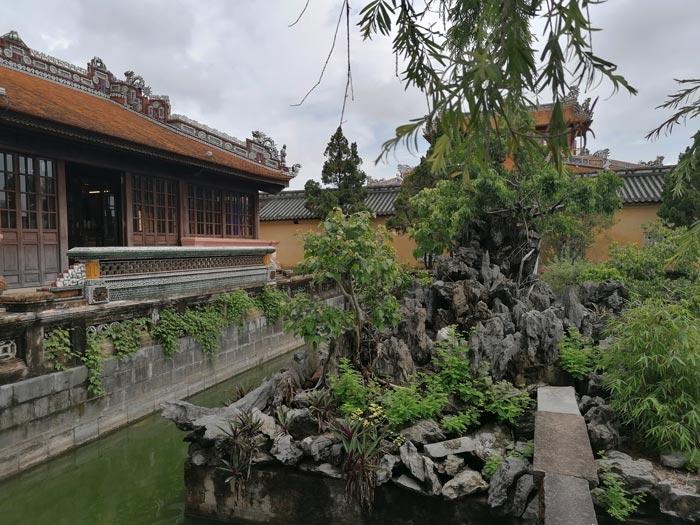 Garten in der Kaiserstadt in Hue