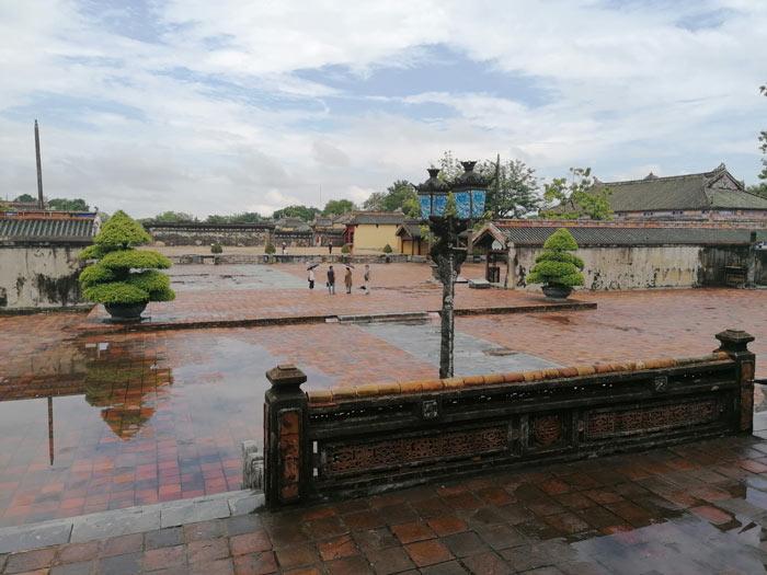 Reste der Verbotenen Purpurstadt innerhalb der alten Kaiserstadt Hue