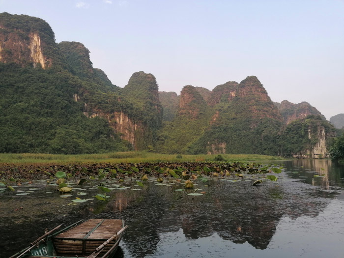 Trang An bei Ninh Binh zum Sonnenuntergang