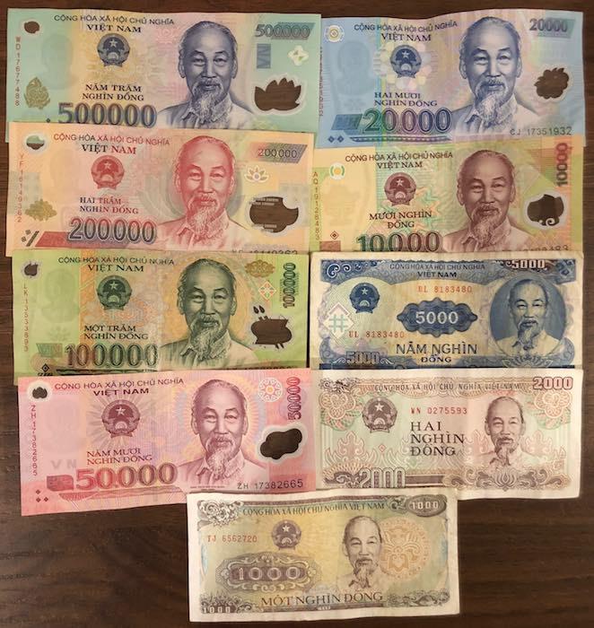 Banknoten Vietnam komplett