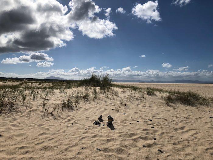 Ausblick Tarifa Strand auf Afrika Horizont